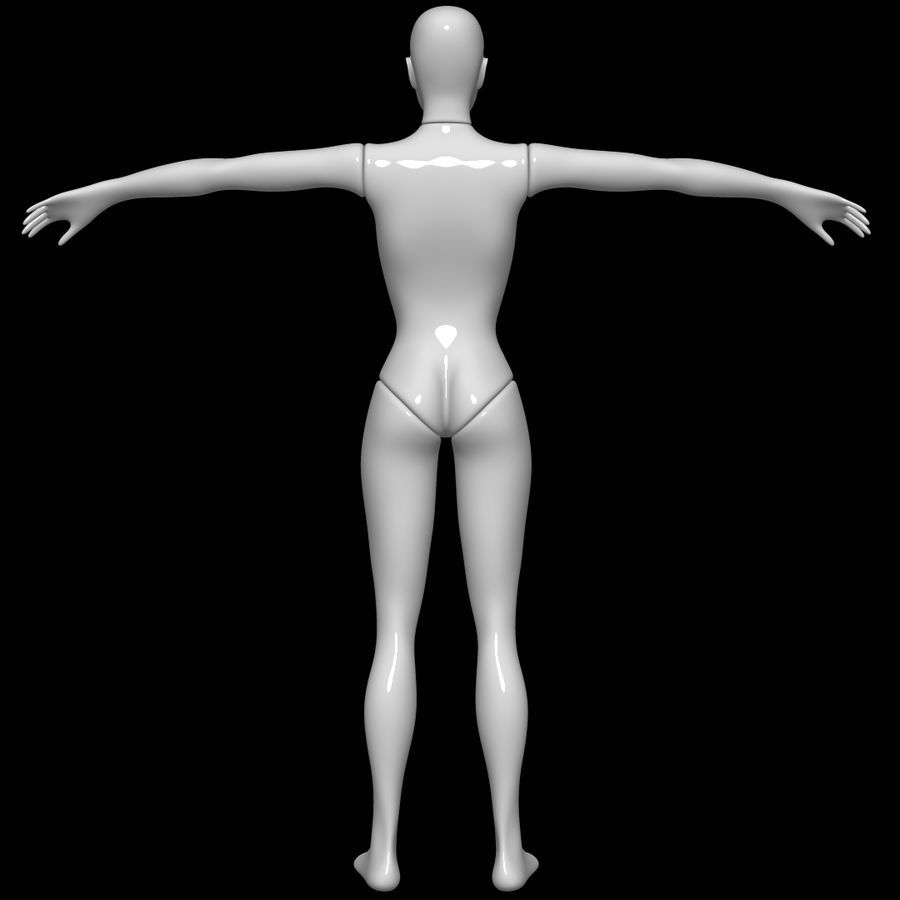Mannequin female royalty-free 3d model - Preview no. 5