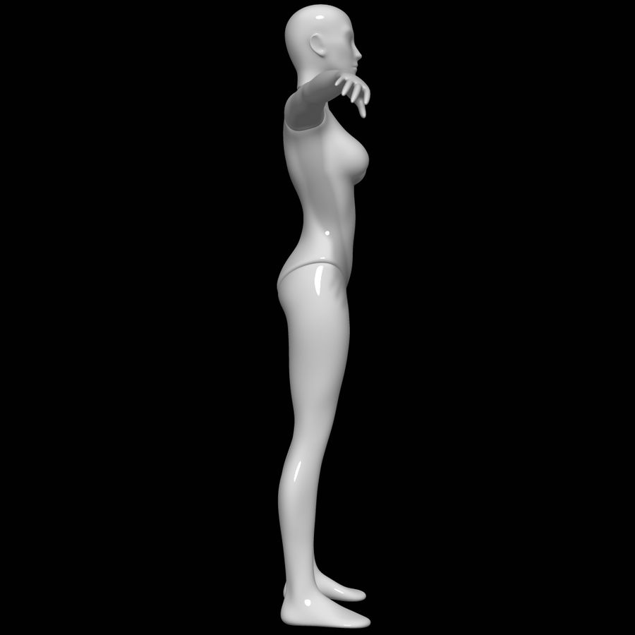 Mannequin female royalty-free 3d model - Preview no. 3