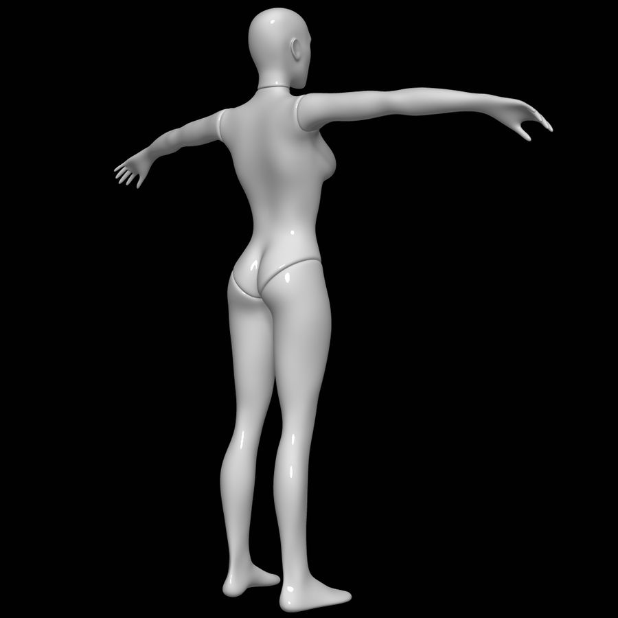 Mannequin female royalty-free 3d model - Preview no. 4