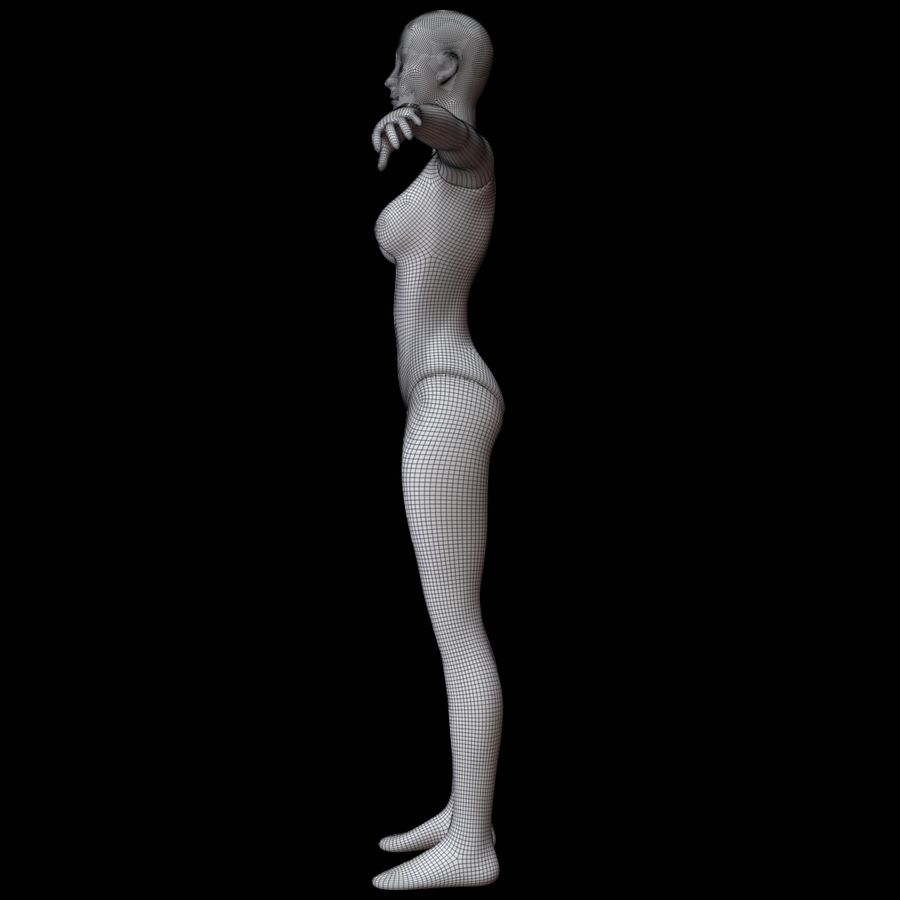 Mannequin female royalty-free 3d model - Preview no. 19