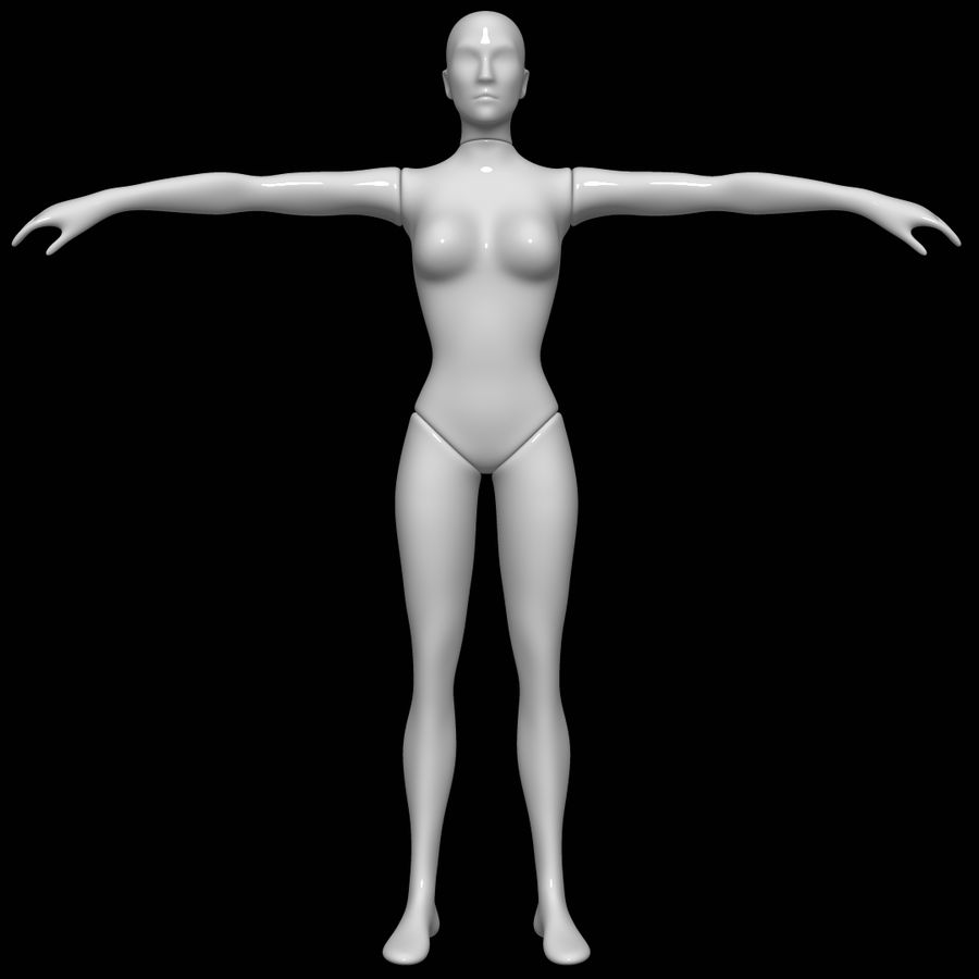 Mannequin female royalty-free 3d model - Preview no. 1