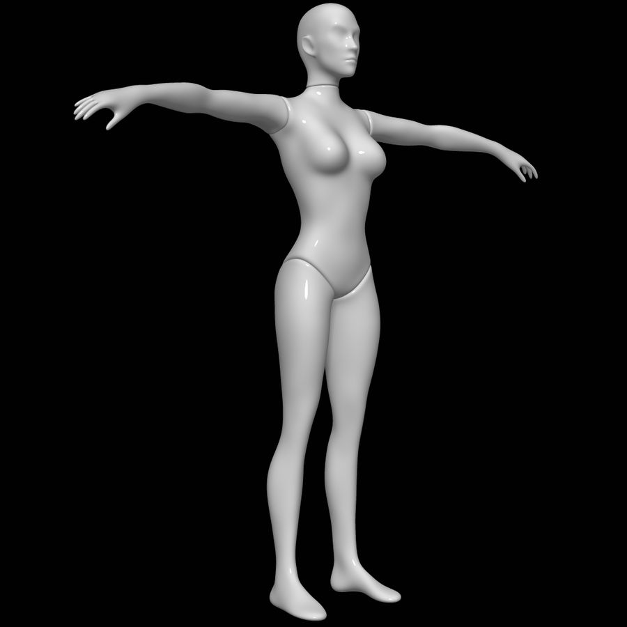 Mannequin female royalty-free 3d model - Preview no. 2