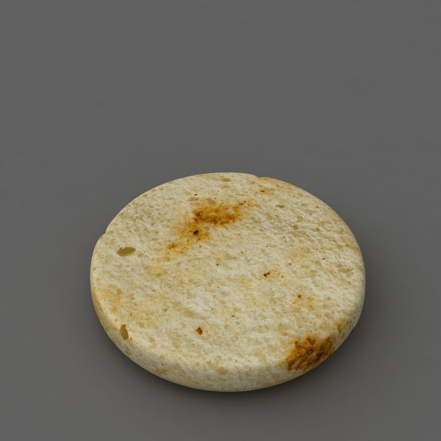 Burger hamburger junk food royalty-free 3d model - Preview no. 4