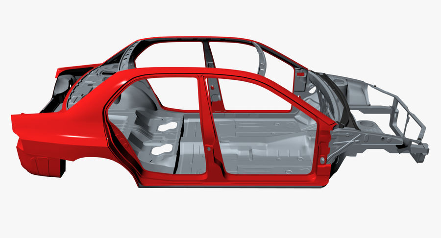 Car Frame royalty-free 3d model - Preview no. 9