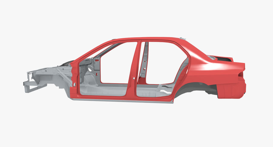 Car Frame royalty-free 3d model - Preview no. 2