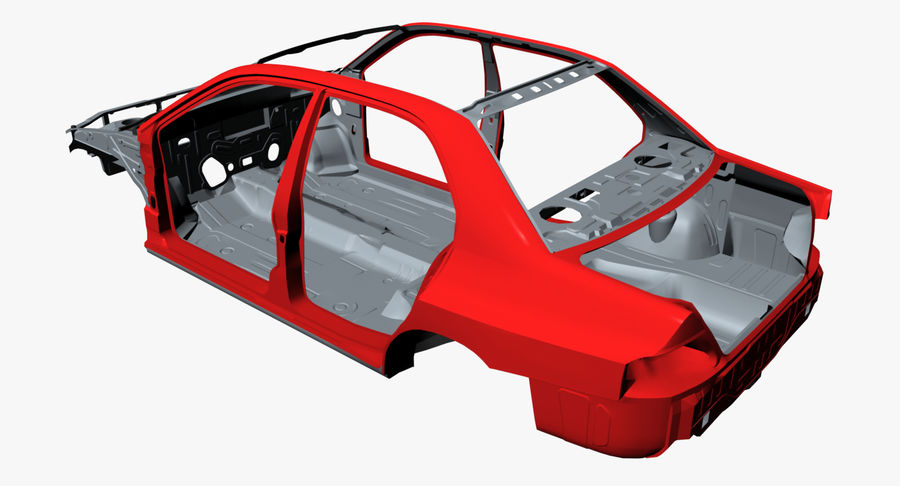 Car Frame royalty-free 3d model - Preview no. 7