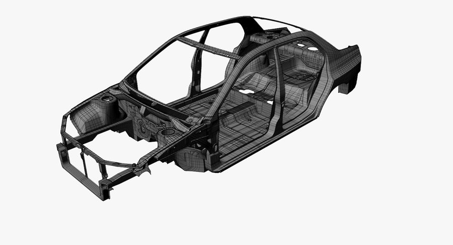 Car Frame royalty-free 3d model - Preview no. 14