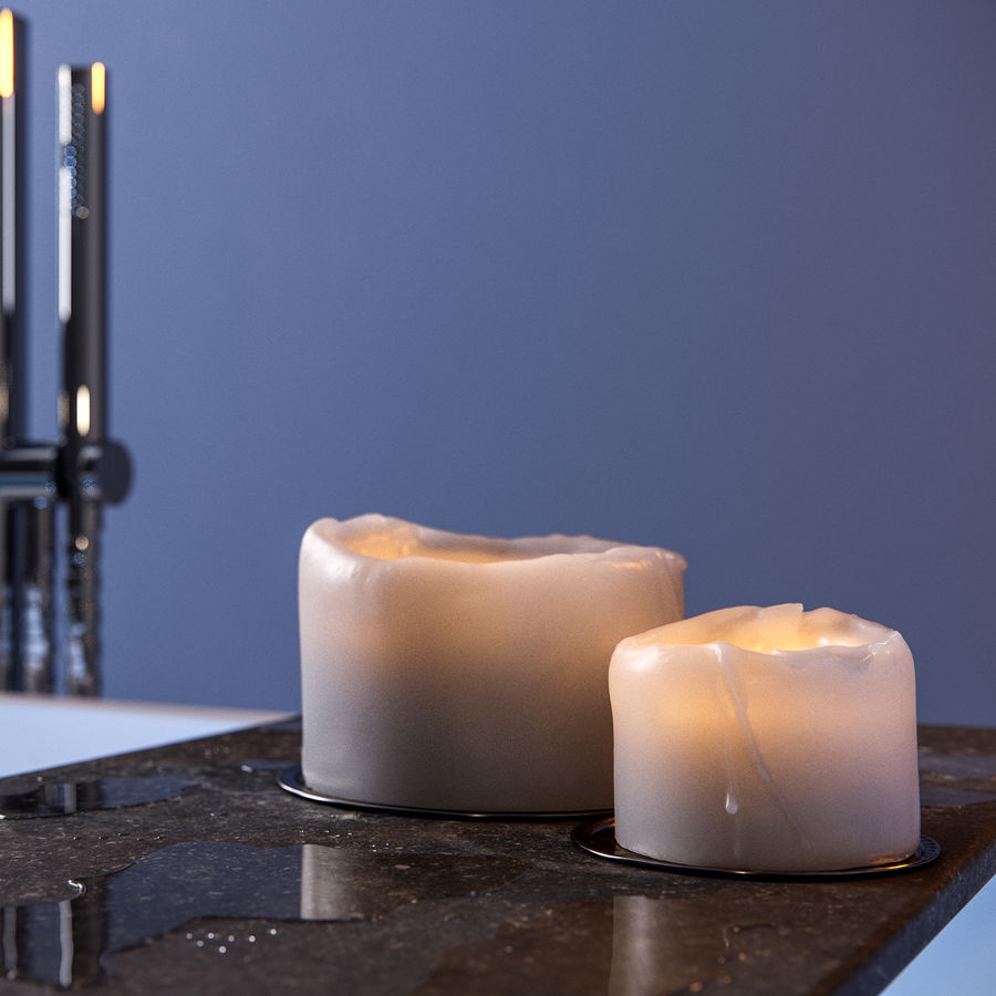 Candle royalty-free 3d model - Preview no. 1