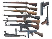 WW2 GUNS USA 독일 라이플 권총 3d model