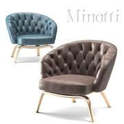 Minotti winston stol 3d model