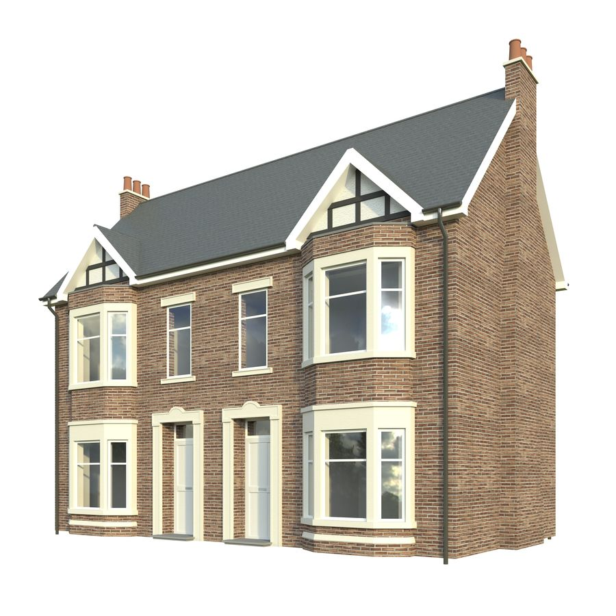 Victorian House 3D Model $19