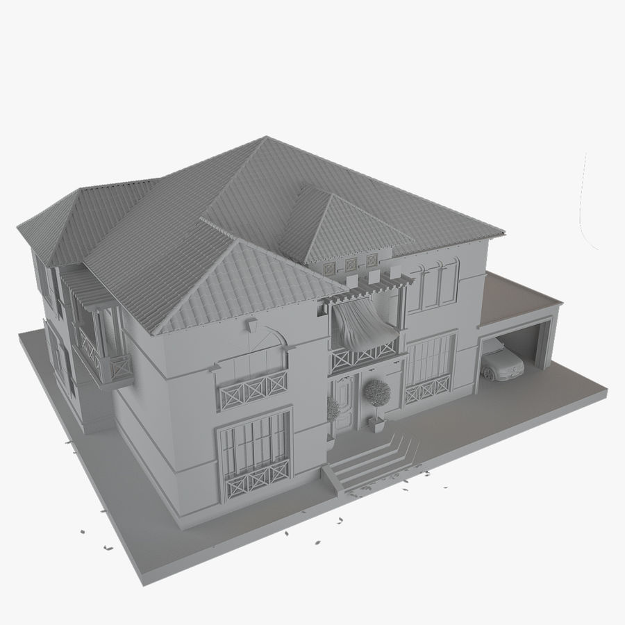 house royalty-free 3d model - Preview no. 11