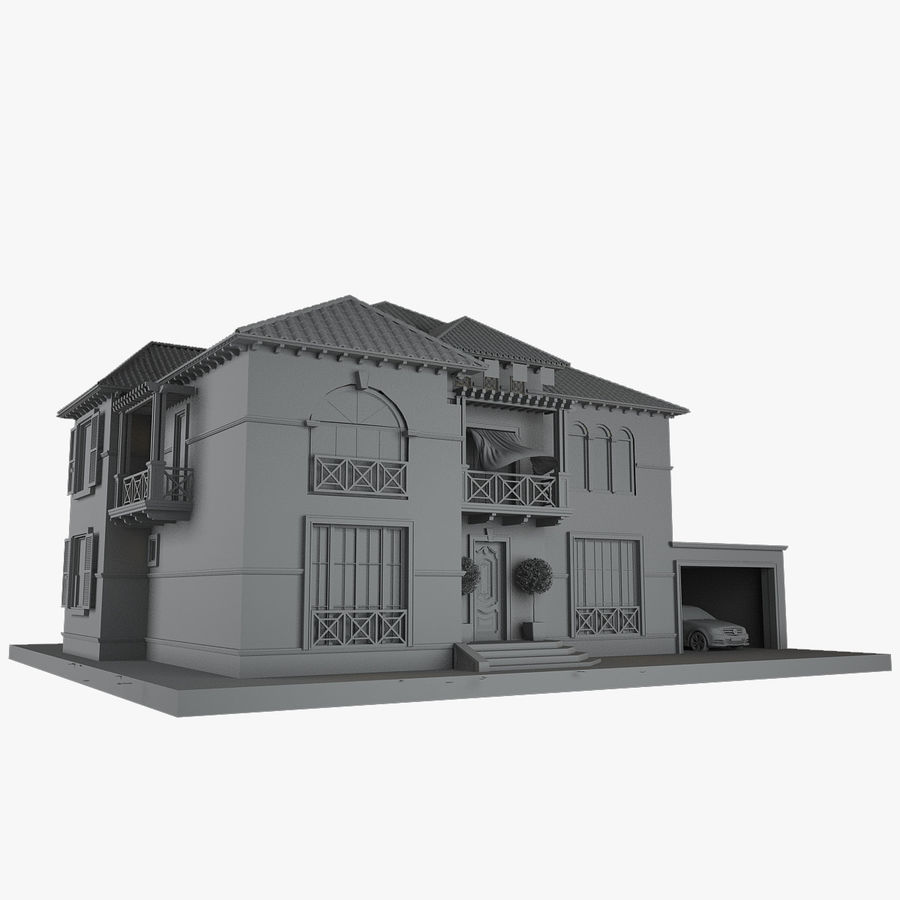 house royalty-free 3d model - Preview no. 7