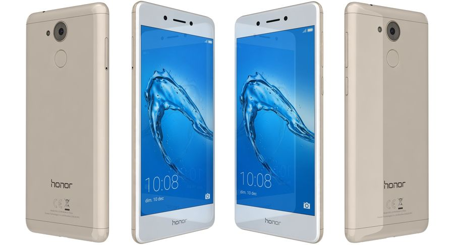 Huawei Honor 6C Gold royalty-free 3d model - Preview no. 6