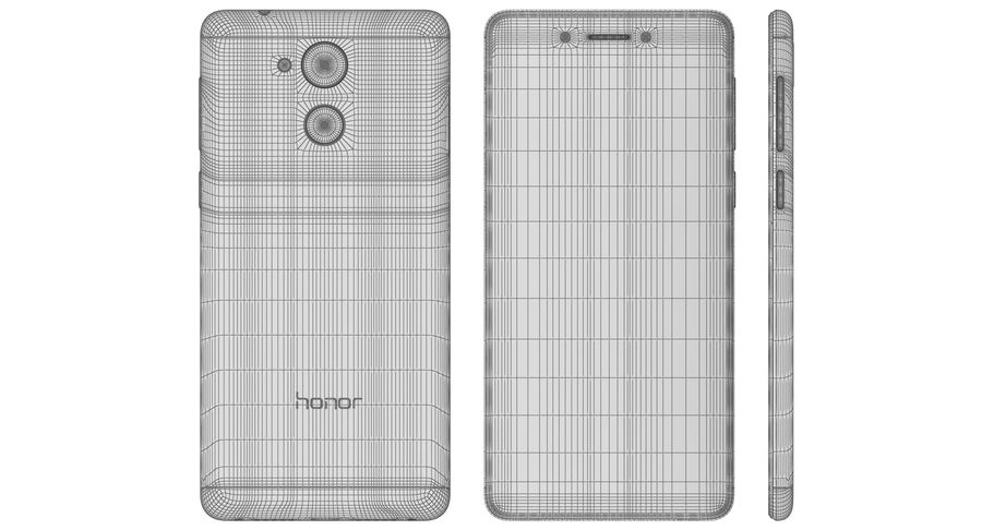 Huawei Honor 6C Gold royalty-free modelo 3d - Preview no. 22