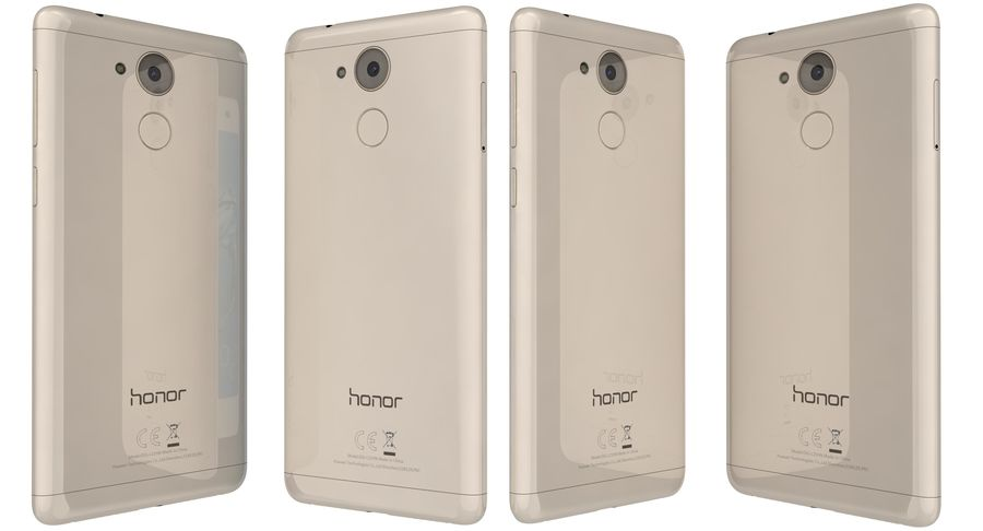 Huawei Honor 6C Gold royalty-free 3d model - Preview no. 4