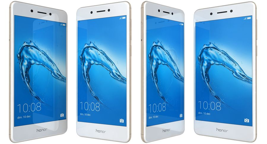 Huawei Honor 6C Gold royalty-free modelo 3d - Preview no. 2