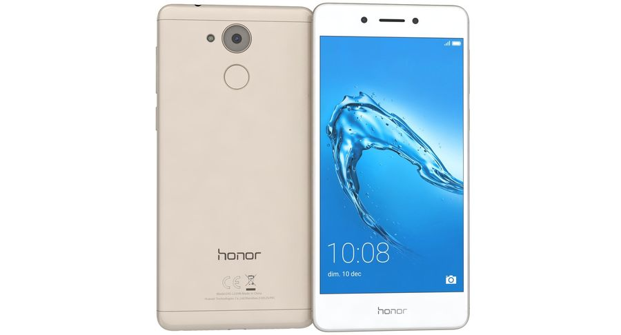 Huawei Honor 6C Gold royalty-free 3d model - Preview no. 7