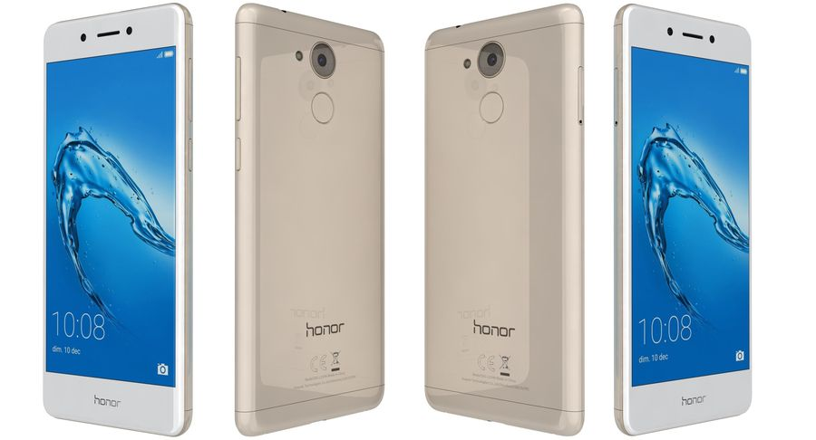 Huawei Honor 6C Gold royalty-free 3d model - Preview no. 5