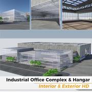 Промышленно-офисный комплекс и здание ангара - интерьер и экстерьер HD 3d model