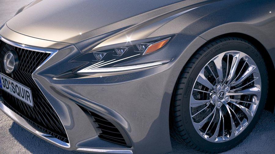 Lexus LS 500 2018 royalty-free 3d model - Preview no. 3