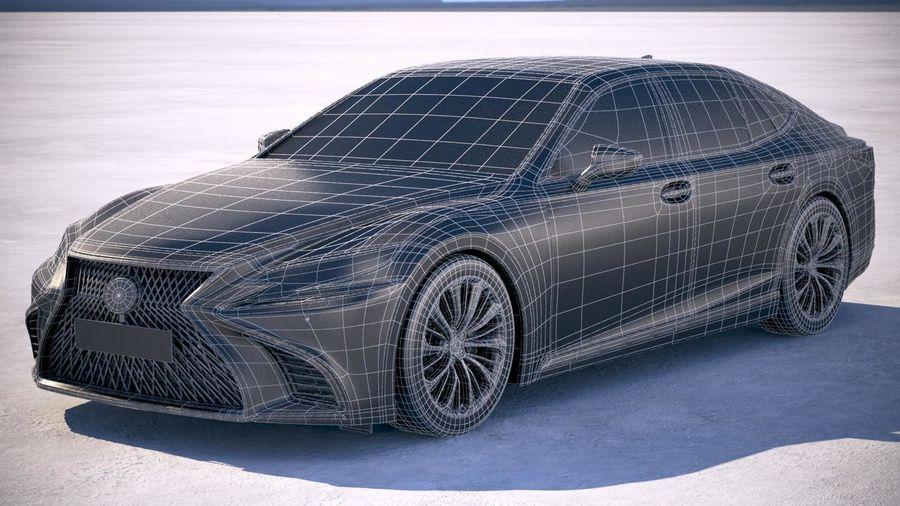 Lexus LS 500 2018 royalty-free 3d model - Preview no. 20