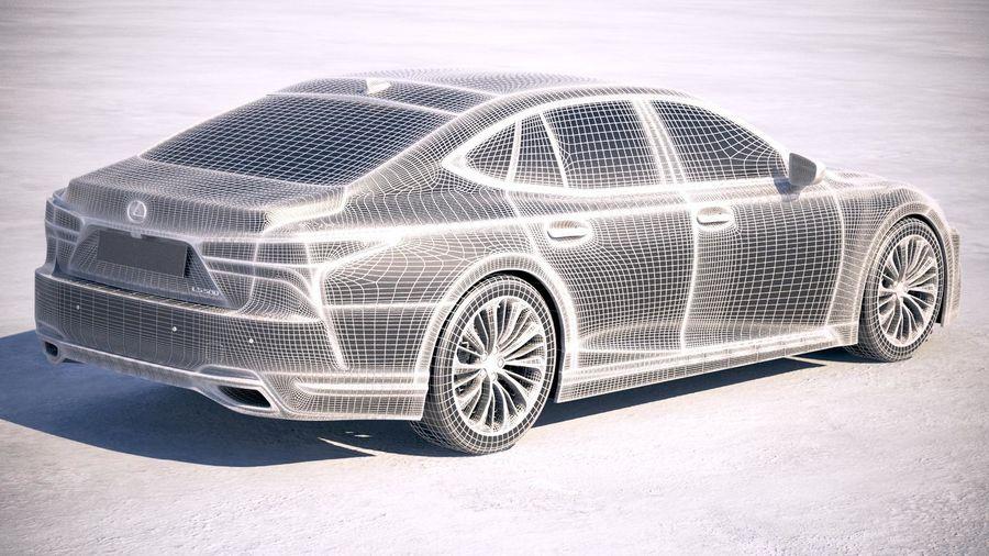 Lexus LS 500 2018 royalty-free 3d model - Preview no. 19