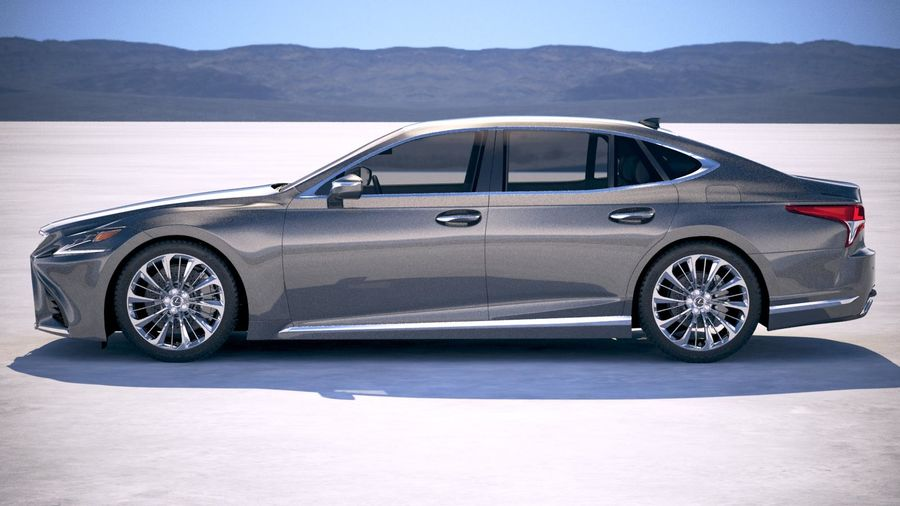 Lexus LS 500 2018 royalty-free 3d model - Preview no. 7