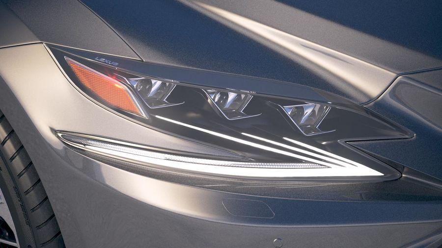 Lexus LS 500 2018 royalty-free 3d model - Preview no. 16