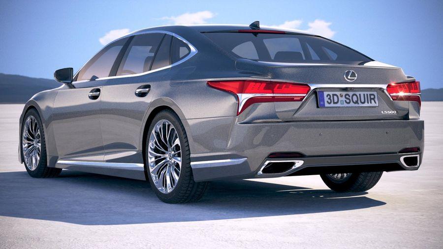 Lexus LS 500 2018 royalty-free 3d model - Preview no. 14