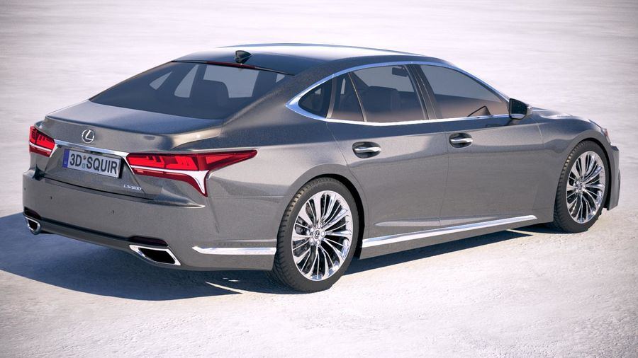 Lexus LS 500 2018 royalty-free 3d model - Preview no. 5