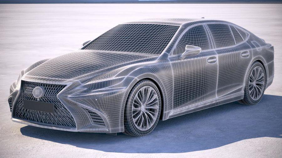 Lexus LS 500 2018 royalty-free 3d model - Preview no. 18