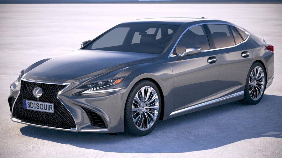 Lexus LS 500 2018 royalty-free 3d model - Preview no. 1