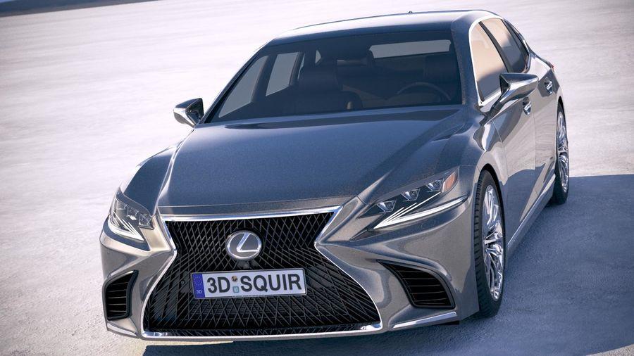 Lexus LS 500 2018 royalty-free 3d model - Preview no. 2
