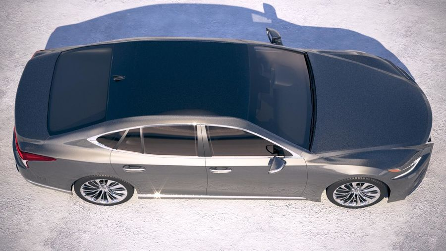 Lexus LS 500 2018 royalty-free 3d model - Preview no. 8