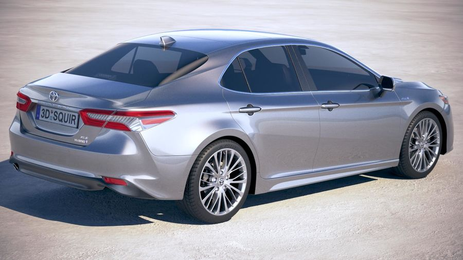 Toyota Camry SE hybride 2018 royalty-free 3d model - Preview no. 5