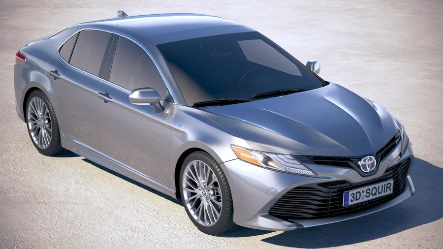 Toyota Camry SE Hybrid 2018 royalty-free 3d model - Preview no. 12