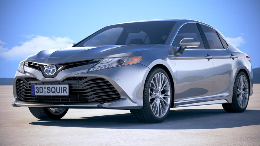 Toyota Camry SE hybride 2018 royalty-free 3d model - Preview no. 13