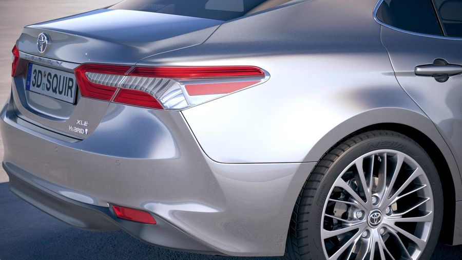 Toyota Camry SE hybride 2018 royalty-free 3d model - Preview no. 4