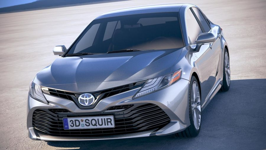 Toyota Camry SE Hybrid 2018 royalty-free 3d model - Preview no. 2