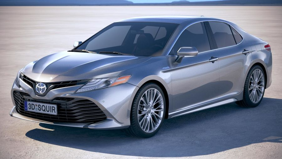 Toyota Camry SE hybride 2018 royalty-free 3d model - Preview no. 1