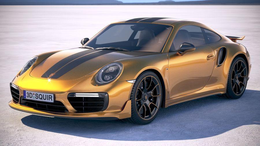 Porsche 911 Turbo S Exclusive Series 2018 3d Model 169 Obj X