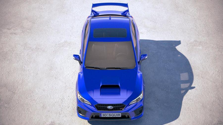 Subaru WRX STI 2018 royalty-free 3d model - Preview no. 9