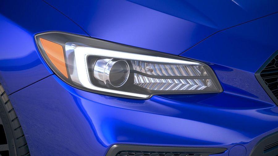 Subaru WRX STI 2018 royalty-free 3d model - Preview no. 16