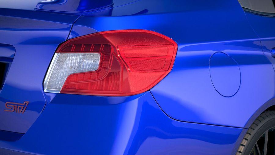 Subaru WRX STI 2018 royalty-free 3d model - Preview no. 17