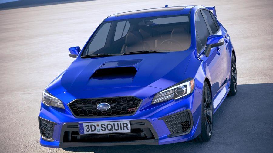 Subaru WRX STI 2018 royalty-free 3d model - Preview no. 2