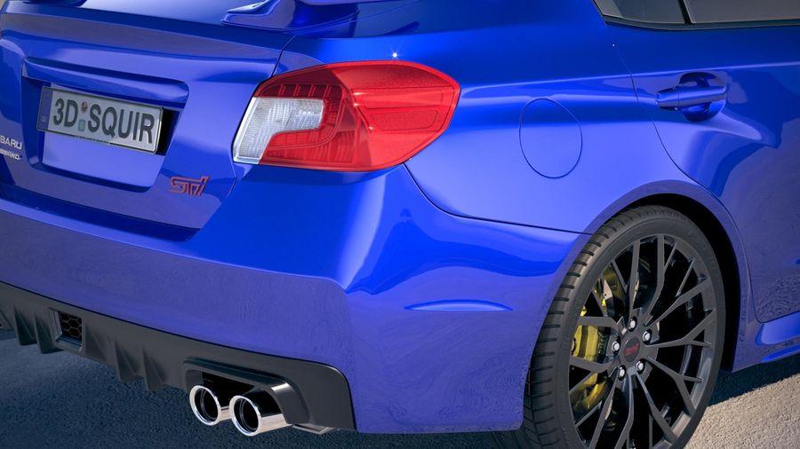 Subaru WRX STI 2018 royalty-free 3d model - Preview no. 4