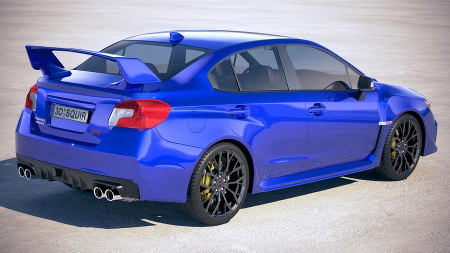 Subaru WRX STI 2018 royalty-free 3d model - Preview no. 5