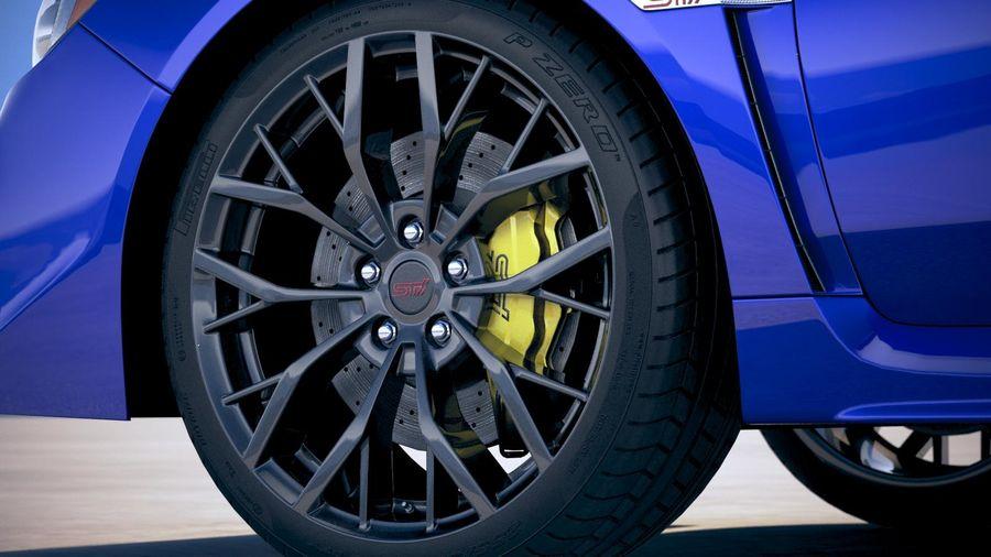 Subaru WRX STI 2018 royalty-free 3d model - Preview no. 15