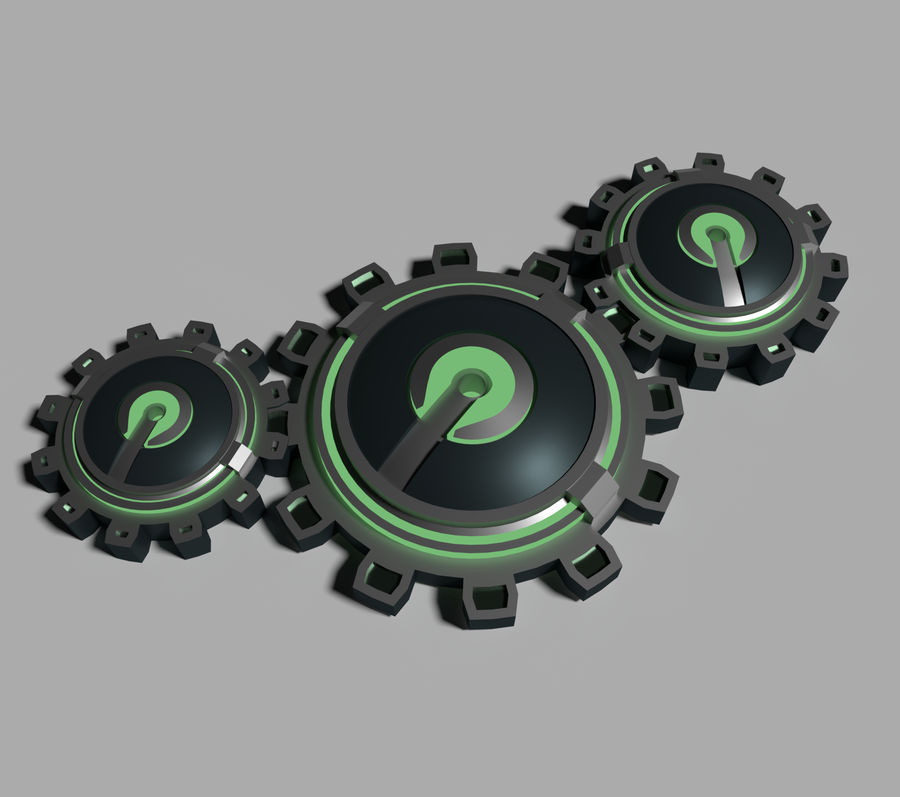 Gears royalty-free 3d model - Preview no. 3